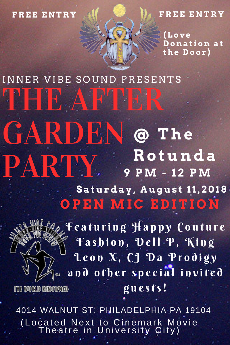 The Rotunda - The After Garden Party Open Mic